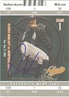 Dontrelle Willis Florida Marlins 2004 Fleer Authentic Autographed Hand Signed Trading... by Hall+of+Fame+Memorabilia