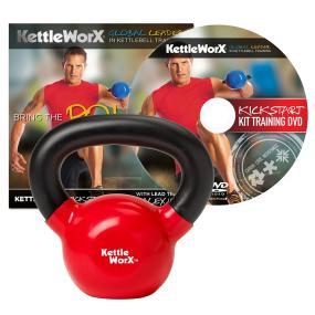 KettleWorX Kick Start Kit With 10 lb Kettlebell