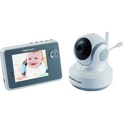 Foscam FBM3501 Digital Video Baby Monitor - 2.4 Ghz with Pan/Tilt, Nightvision and Two-Way Audio/Video Camera with 3.5-Inch LCD (White/Gray)