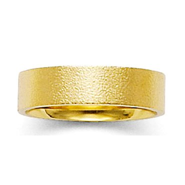 Hammered Finish Wedding Band Ring in 7.0 Millimeters in 10Kt Yellow Gold. Flat Comfort Fit Style SE29-617Y6, , Finger Size 10¼