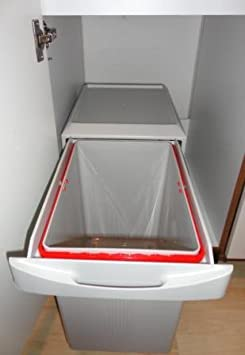 k chen einbau abfalleimer virtus 1 1x 16 liter handauszug ab 40cm schrankbreite lichtgrau. Black Bedroom Furniture Sets. Home Design Ideas