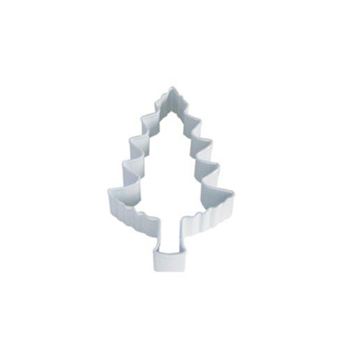 Dress My Cupcake DMC41CC1102/W Tree Cookie Cutter, 4-Inch, White