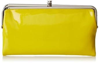 HOBO Lauren Patent Wallet,Lemon,One Size