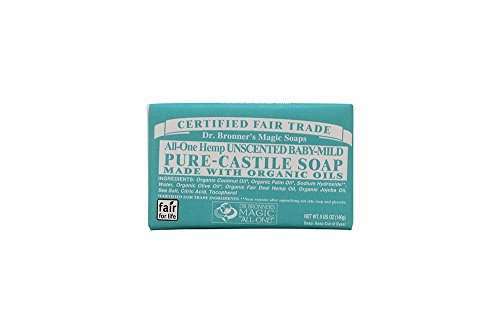 Dr. Bronner'S Organic Pure Castile Bar Soap, Baby, Mild, 5 Oz
