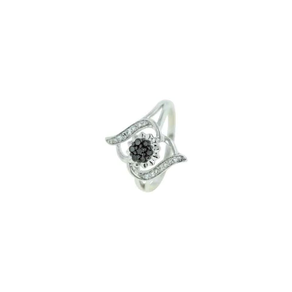 14K White Gold Diamond Ring Diamond quality AA (I1 I2 clarity, G I color)