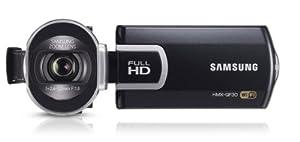Samsung HMX-QF30 Videocamera Full HD 5 Megapixel, Zoom Ottico 20x, Display LCD da 6.9cm (2.7 Pollici), Wi-Fi, Colore Nero