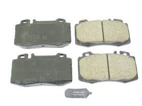 Mercedes w220 (03-06) Brake Pad Set Front CERAMIC Akebono friction linings r230 wagner thermoquiet pab246r riveted brake shoe set front