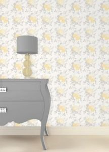 Fine Decor Claudia Wallpaper - Yellow from New A-Brend