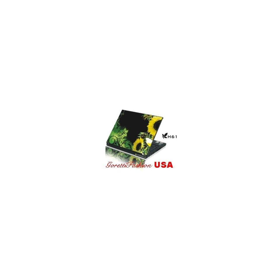 15.4 Laptop Notebook Skins Sticker Cover H61 Sun Flower Skin