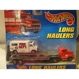 Hot Wheels Long Hauler: Fire Department Truck & Long Hauler Semi w/ Trailer (Hot Wheels Semi Truck compare prices)