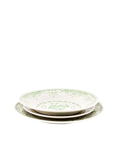 Bitossi Thuis Dish 18er Set Rose Collection groen