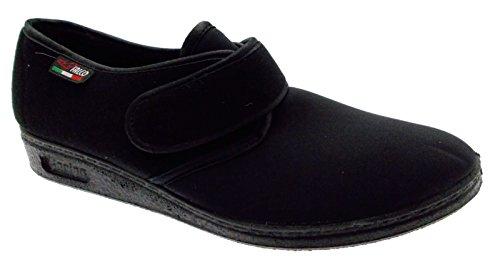 pantofola strappo panno elasticizzato nero fisioterapia extra large 41 nero