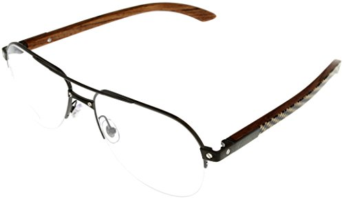 Cartier Prescription Eyeglasses Frame Titanium/Wood Unisex Aviator EYE00056 (Cartier Glasses Wood Frames compare prices)