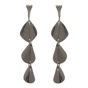 Calynda Silver Plated Drop Clip On Earrings by Rodney