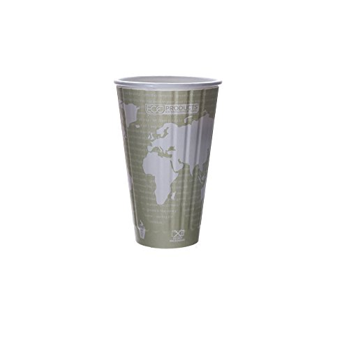 Eco-Products - Compostable, Insulated Hot Cup - 16 oz. Paper Coffee Cup EP-BNHC16-WD (15 Packs of 40) (Eco Paper Coffee Cups compare prices)