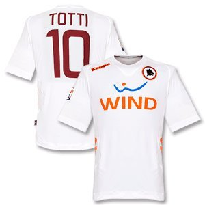 11-12 AS Roma Away Jersey + Totti 10