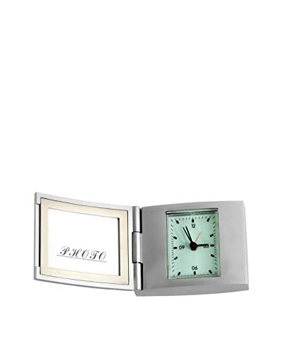 Control Brand Photo Frame Alarm Clock, Silver