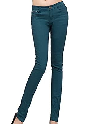 Taiycyxgan Women's Skinny Colorful Jeggings Stretchy Jean Pencil Tights Leggings