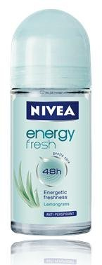 Nivea Deo Roll on 50ml. (Pack of 3) (Energy Fresh) by Nivea