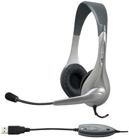 Cyber Acoustics, Inc., Cybe Ac850 Usb Stereo Pc Headset Silver (Catalog Category: Pc Headsets)