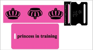 Crowns - princess in training- Strap/Tag Set