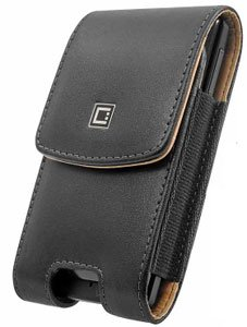 Leather Case Vertical Removable Clip Black For Nokia E71 (E71x)