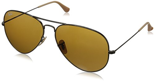 Ray-Ban Mens 0RB3025 Aviator Sunglasses, Antique Gold,Brown & Antique Gold, 62 mm