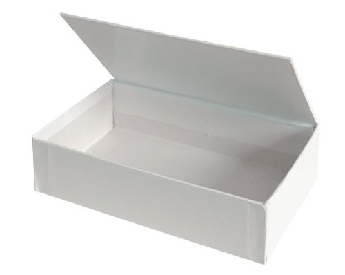 Creative Hobbies Ready to Decorate White Paperboard Pencil, Craft, Cigar Holder Box with Hinged Lid -Pack of 3 (Craft Boxes With Lids compare prices)