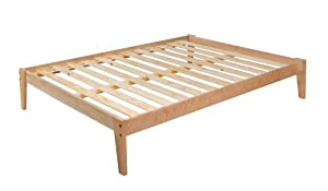 Queen Size- Solid CHERRY Platform Bed Frame - 100% Clean - UNFINISHED, No Toxins - Made in USA