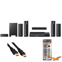 BDVN790W Blu-ray Home Theater System 1000w Wireless Speakers w/ HookUp Bundle. Bundle Includes AV Home Theater Power Protection (7 outlet, 2120 Joules protection) and 6 ft High Speed 3D Ready 120hz Ready 1080p HDMI Cable (Bulk Packaged).