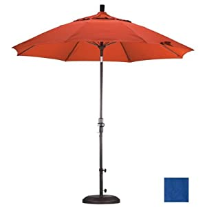 California Umbrella 9 ft. Fiberglass Tilt Olefin Market Umbrella