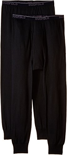 Duofold Men's Mid Weight Wicking Thermal Pant (Pack of 2), Black, Medium (Thermal Barrier Pants compare prices)