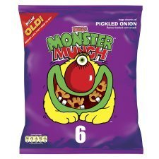 Walkers Monster Munch Pickled Onion 6Pk x 4 хаггис трусики little walkers 5 13 17кг 15шт