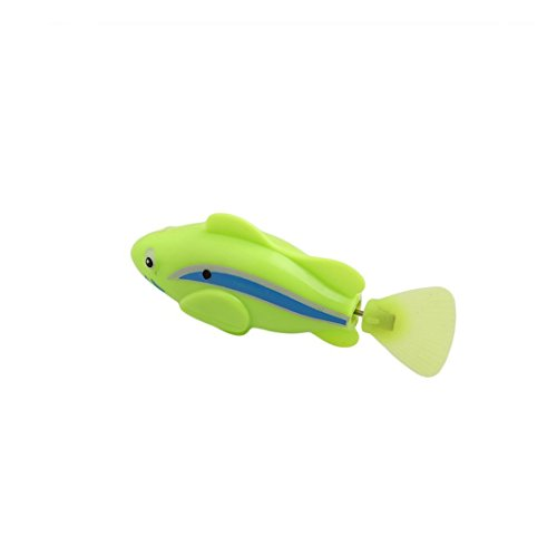 UNKE Swimming Robot Fish Activated in Water Magical Electronic Toy Kids Children Gift(Green) (Swimming Pool Electronics compare prices)