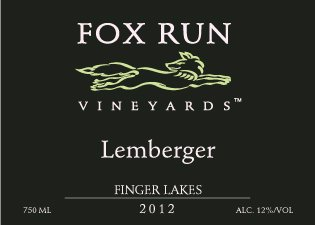 2012 Fox Run Vineyards Finger Lakes Lemberger 750 Ml