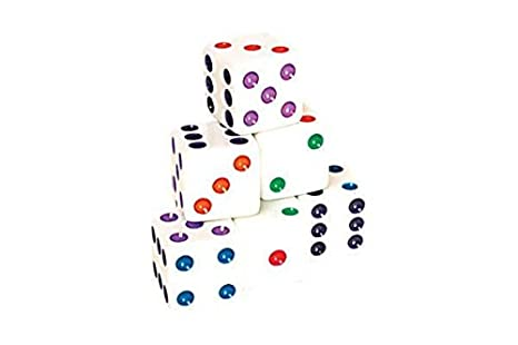Dice With Colored Pips