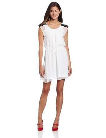 Jump Juniors Swiss Dot Short Dress, Ivory, 1/2
