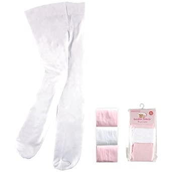 3-Pack Tights for Baby, Pink-White, 0-9 months