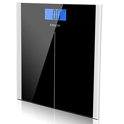 Etekcity Digital Body Weight Bathroom Scale, 400lb/180kg, Black (Certified Refurbished)