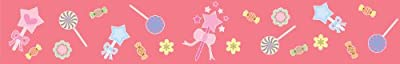 Pink Candy Wallpaper Border by Custom Wall Designs