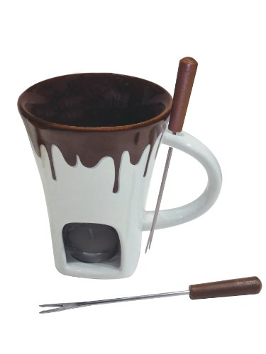 Make Easy Dairy Free Chocolate Fondue in a Swissmar 4-Piece Nostalgia Chocolate Fondue Mug Set