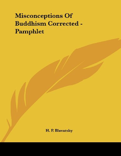 Misconceptions of Buddhism Corrected - Pamphlet