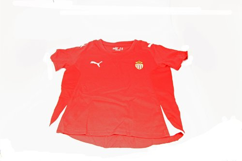 Puma JR AS MONACO FC TEE Rot Kinder Unisex T-Shirt