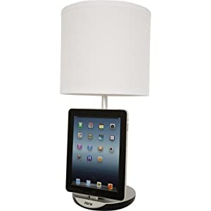 iHome Table Lamp with Charging Dock for iPod, iPhone, and iPad IHLC120