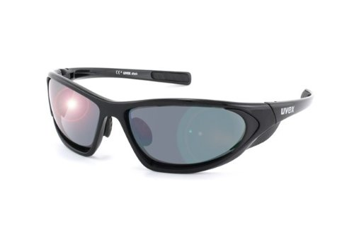 UVEX Fahrradbrille Sportbrille attack black shiny