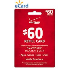Best savings for Verizon $60 To go or Monthly Prepaid Refill Card (mail delivery)