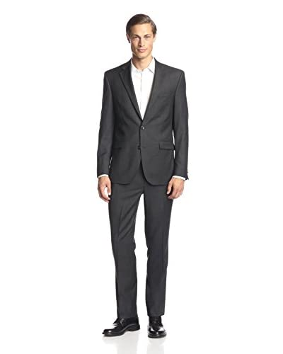 Kenneth Cole New York Men's Two Button Solid Suit