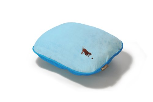 P.L.A.Y. Pillow Bed with Eco-Friendly Filler and 100% Cotton, Baby Blue/Cotton Candy