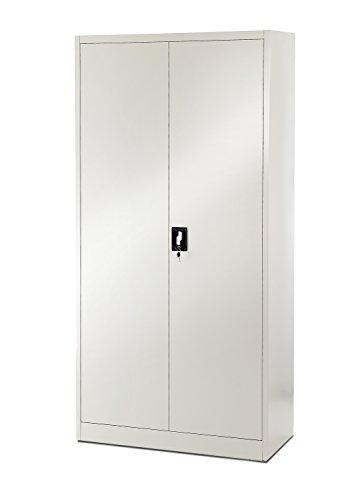 4er-Set-Aktenschrank-195-cm-Metallschrank-Broschrank-Werkzeugschrank-Universalschrank-Flgeltrschrank-Stahlschrank-Stahlblech-Lagerschrank-Ideal-fr-Bro-Verschliebar-NEU-graugrau