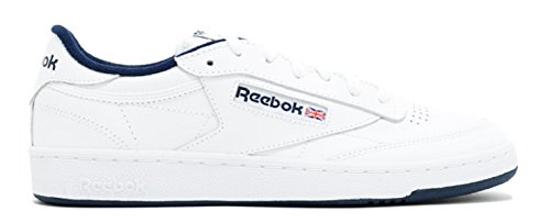 Reebok Men's Classic Fashion Sneaker, Club C 85 AR0457, White/Navy, 9M US (Reebok Classic Mens Sneakers compare prices)